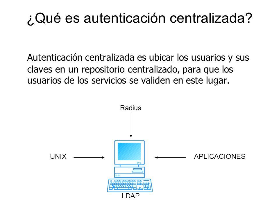 ¿Qué es autenticación centralizada
