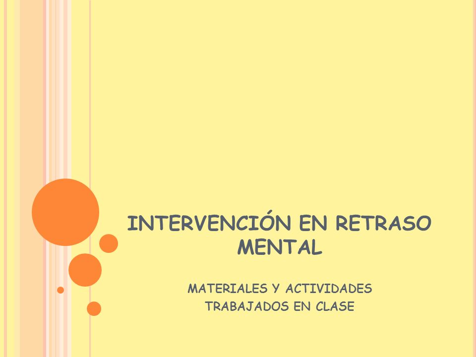 INTERVENCIÓN EN RETRASO MENTAL