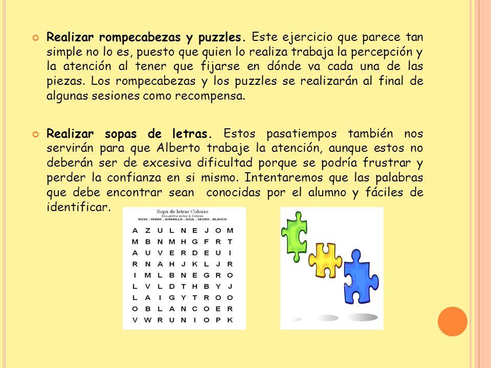 Realizar rompecabezas y puzzles