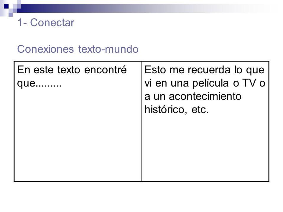 1- Conectar Conexiones texto-mundo