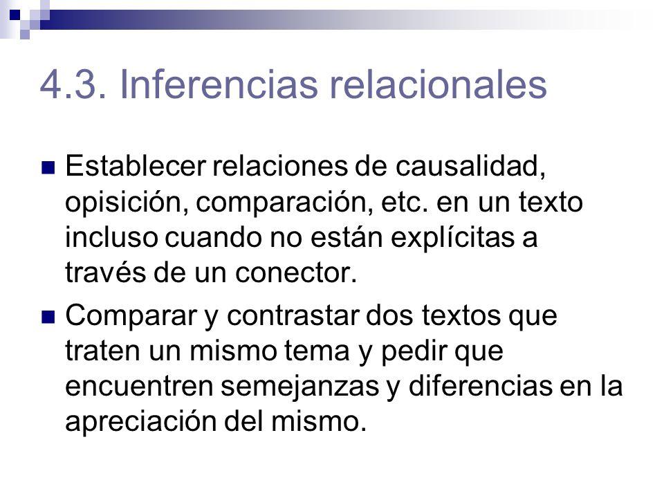 4.3. Inferencias relacionales