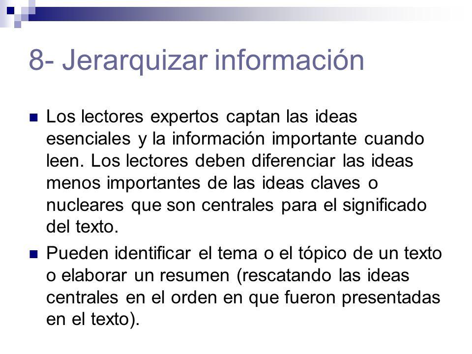 8- Jerarquizar información