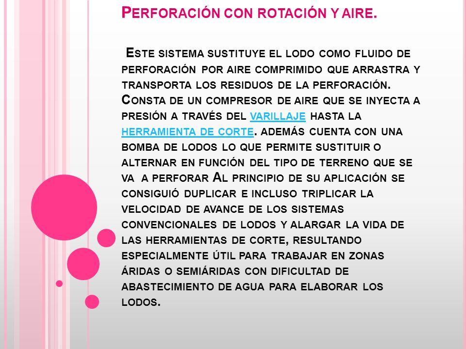 Perforación con rotación y aire
