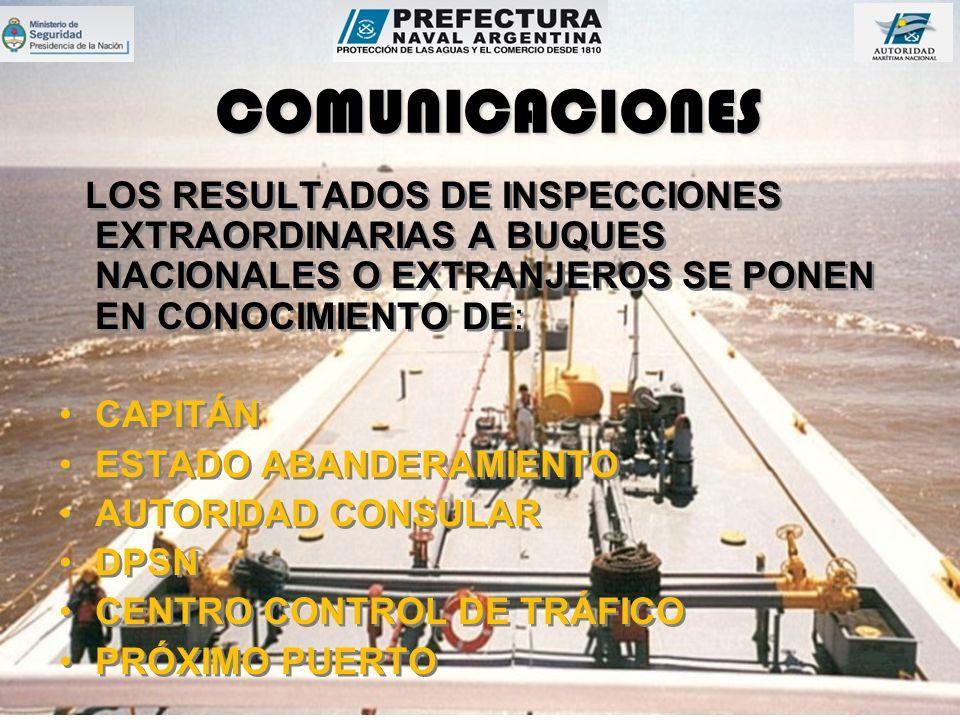 COMUNICACIONES CAPITÁN ESTADO ABANDERAMIENTO AUTORIDAD CONSULAR DPSN