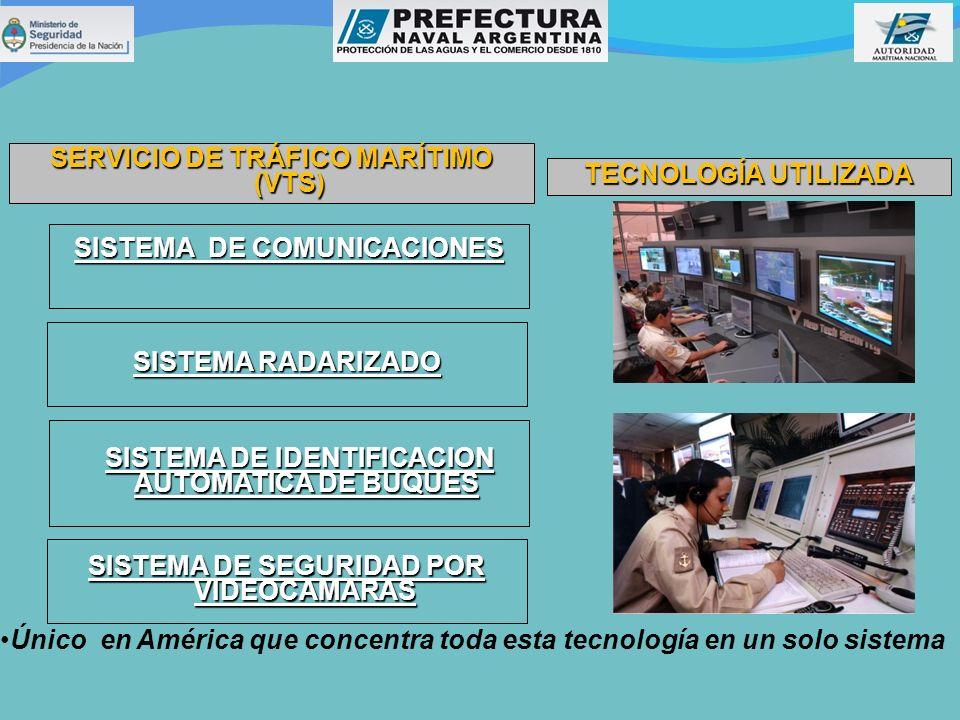 SERVICIO DE TRÁFICO MARÍTIMO (VTS) TECNOLOGÍA UTILIZADA