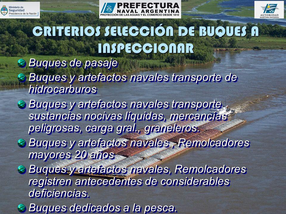 CRITERIOS SELECCIÓN DE BUQUES A INSPECCIONAR