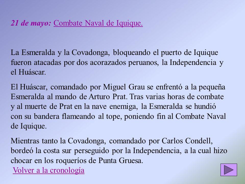 21 de mayo: Combate Naval de Iquique.