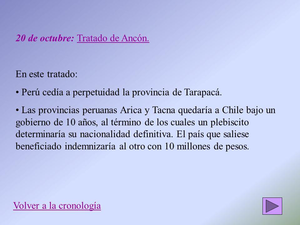 20 de octubre: Tratado de Ancón.