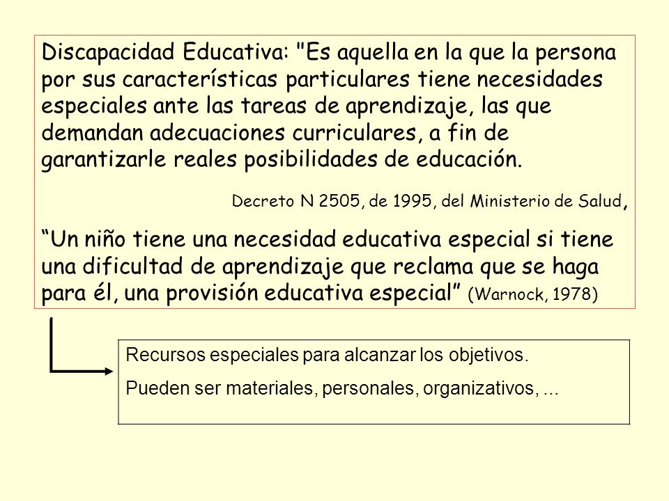 TDAH = NEE = DISCAPACIDAD EDUCATIVA