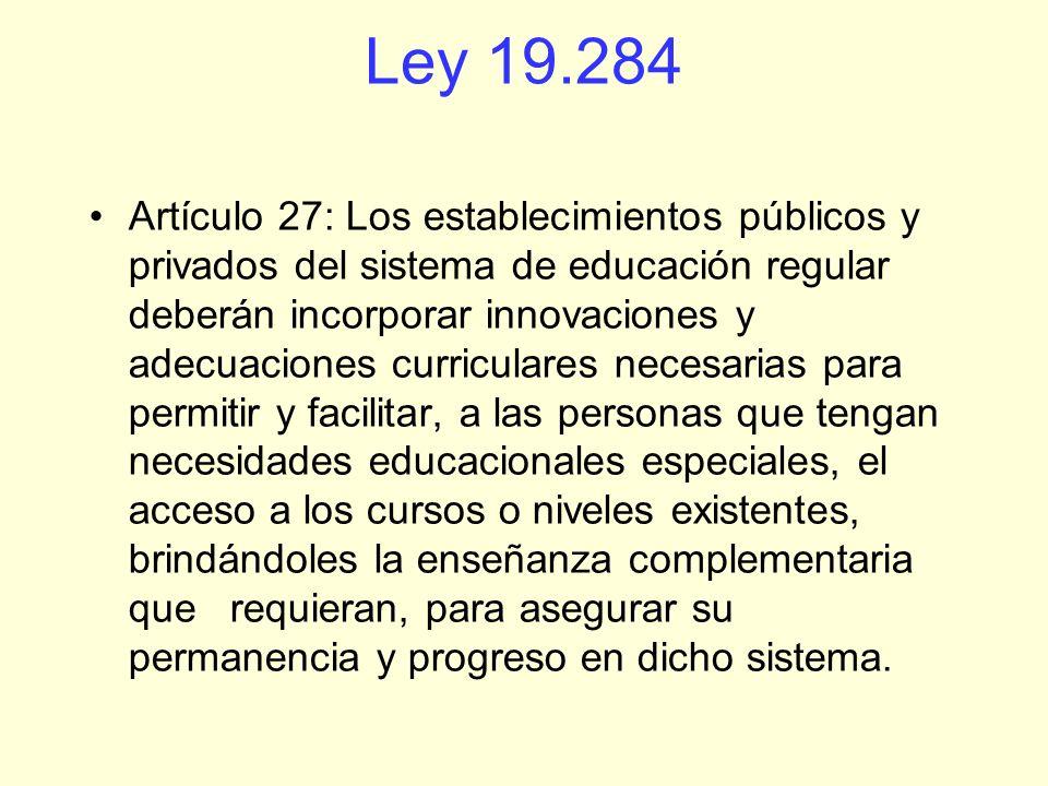 La ley establece la no discriminación, pero sabemos que no la regula, más discriminación existe con los test existentes en el sistema educativo chileno que obligatoriamente selecciona a unos y discrimina a otros.