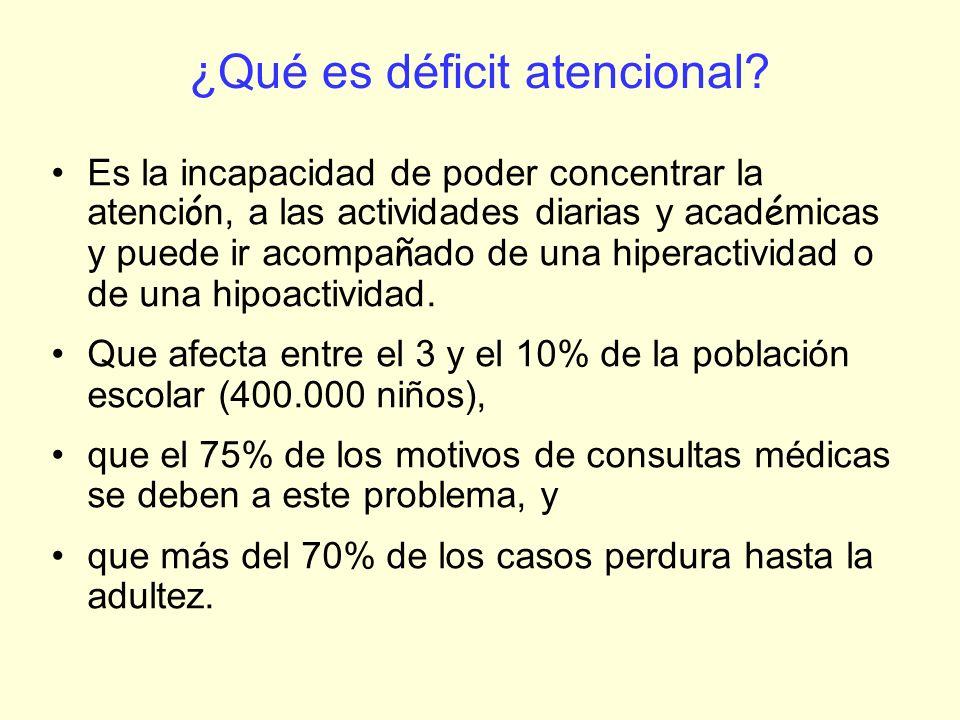 ¿Qué es déficit atencional