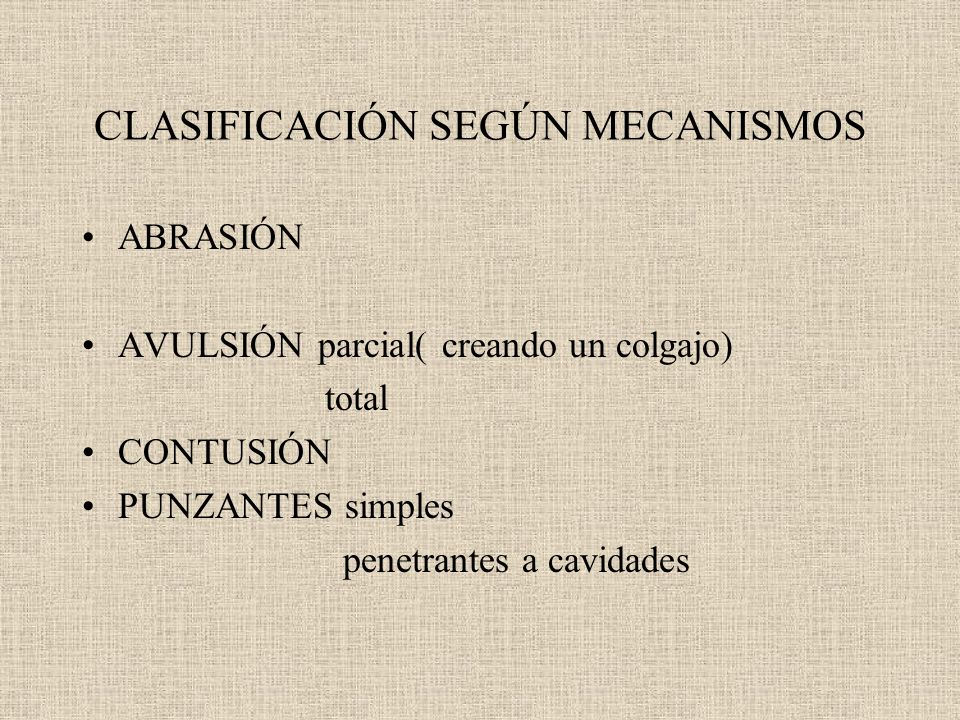 CLASIFICACIÓN SEGÚN MECANISMOS