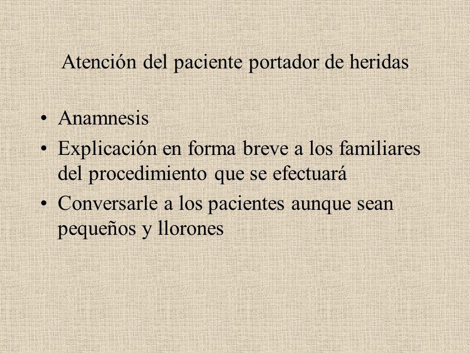 Atención del paciente portador de heridas