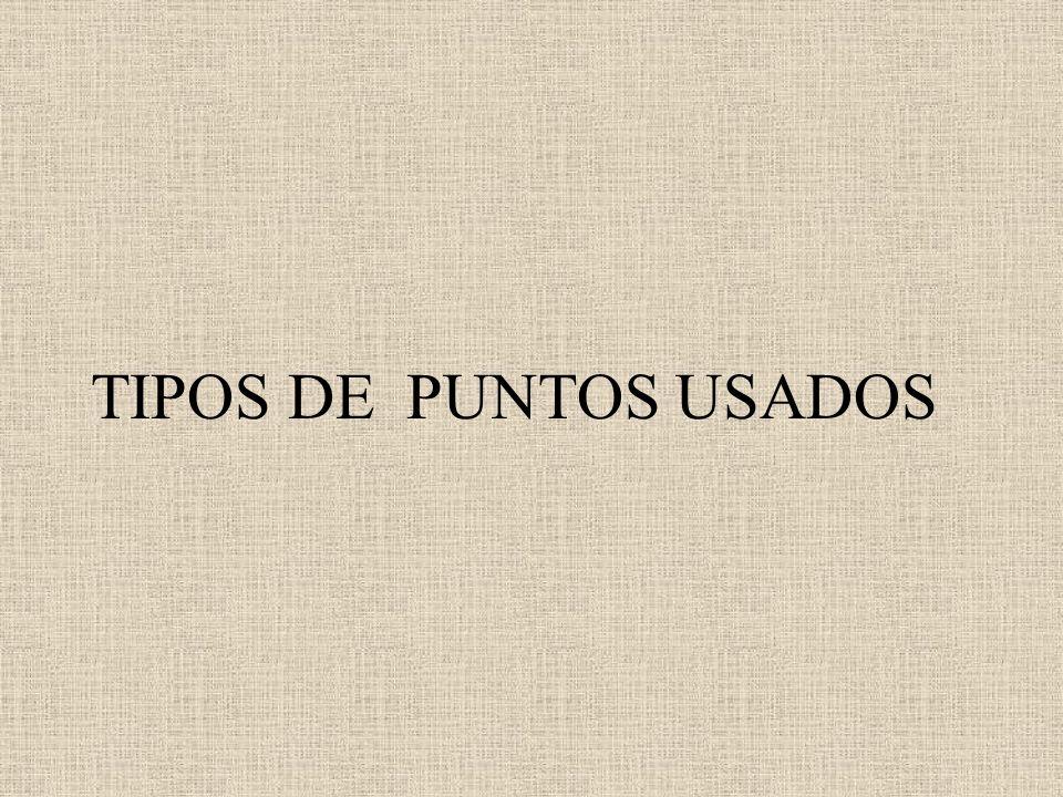 TIPOS DE PUNTOS USADOS