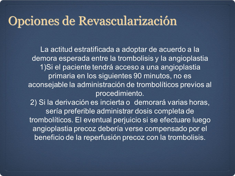 Opciones de Revascularización