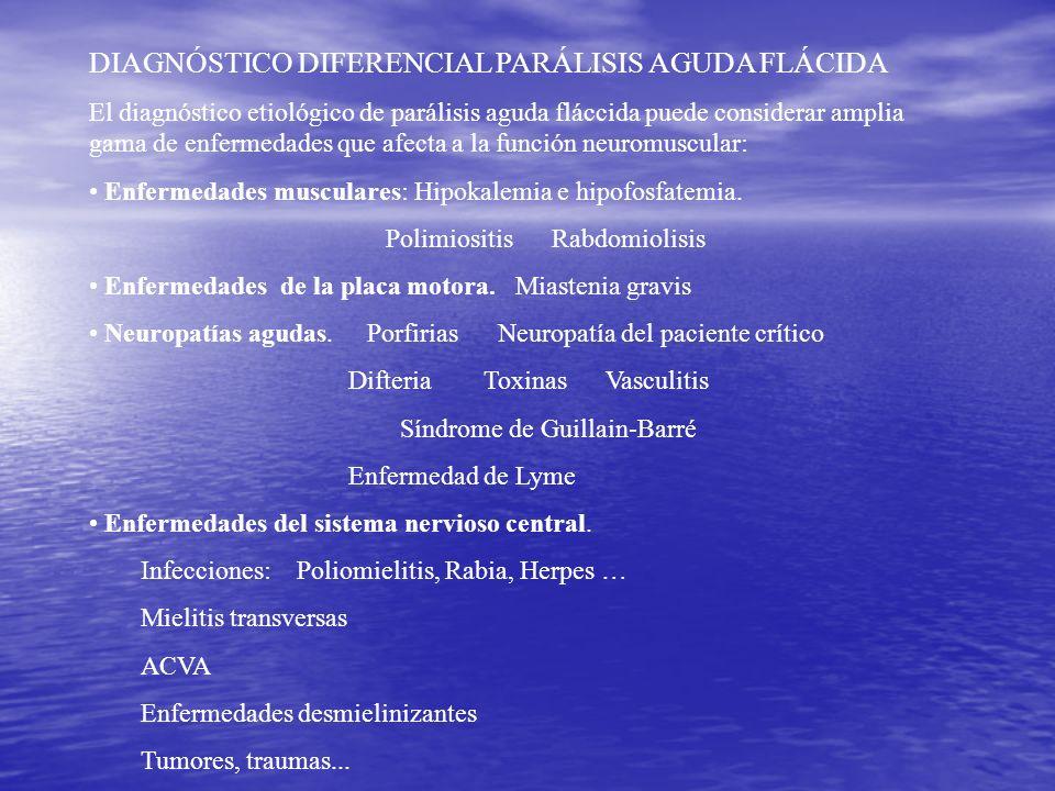 DIAGNÓSTICO DIFERENCIAL PARÁLISIS AGUDA FLÁCIDA