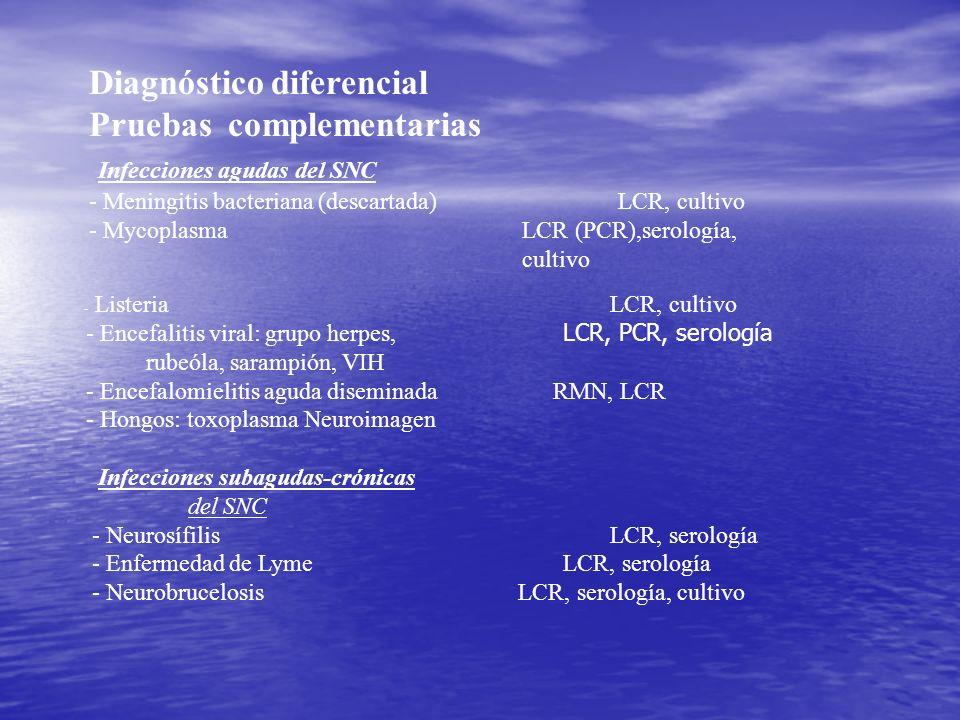 Diagnóstico diferencial Pruebas complementarias