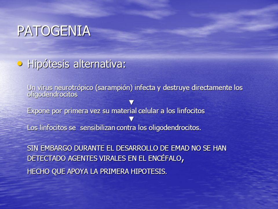 PATOGENIA Hipótesis alternativa: