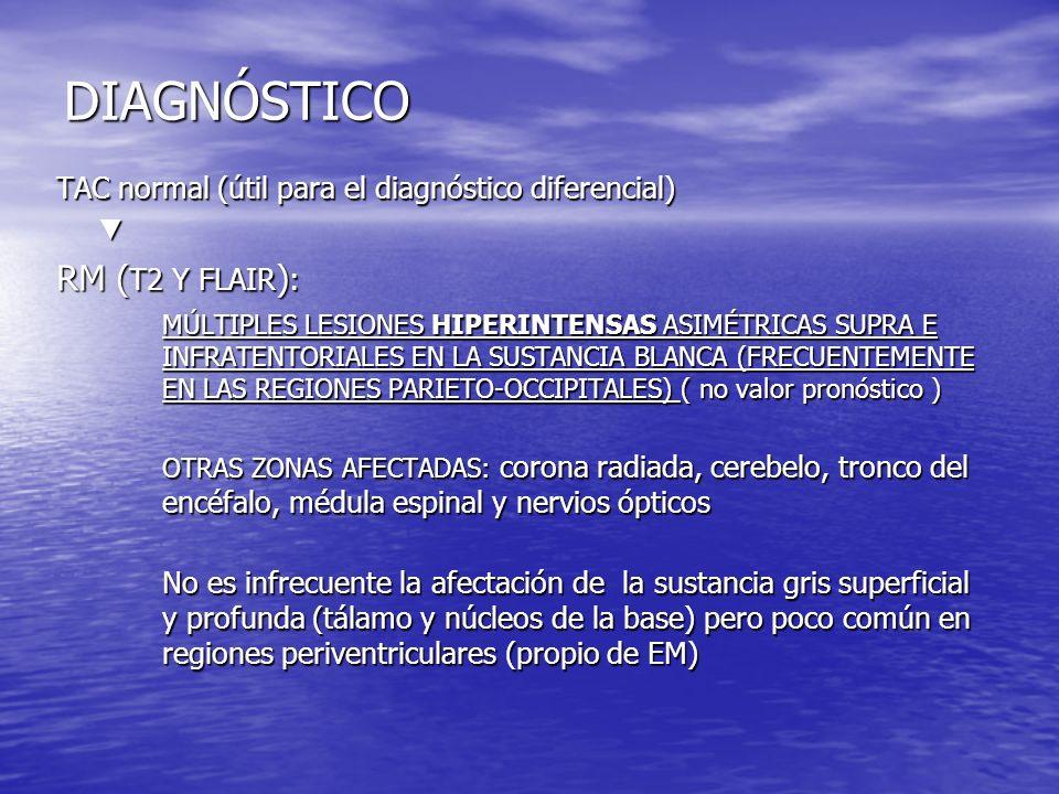 DIAGNÓSTICO RM (T2 Y FLAIR):