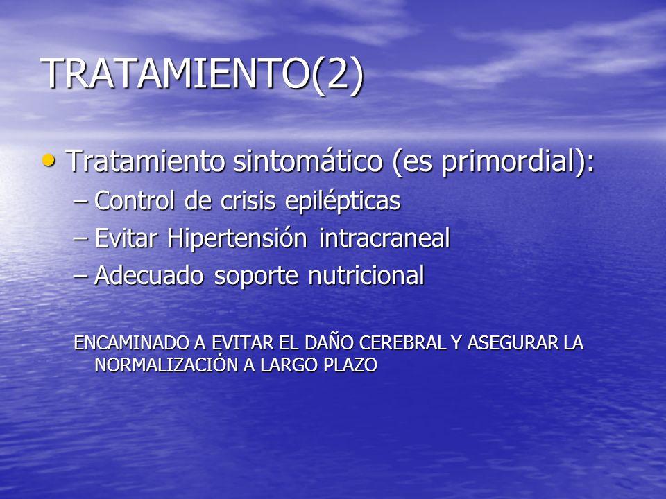 TRATAMIENTO(2) Tratamiento sintomático (es primordial):