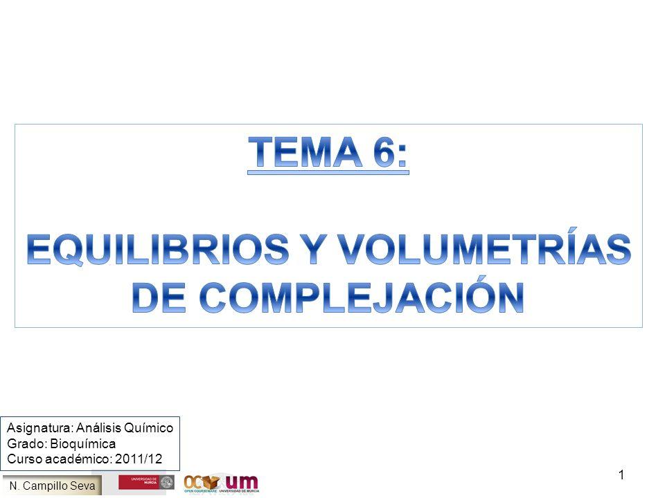 EQUILIBRIOS Y VOLUMETRÍAS