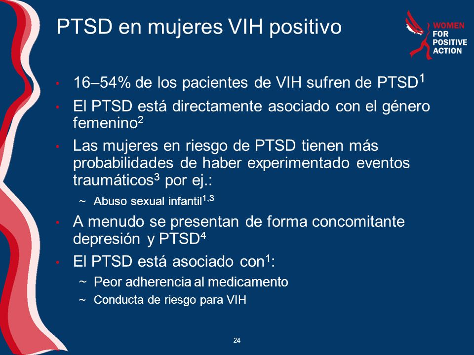 PTSD en mujeres VIH positivo