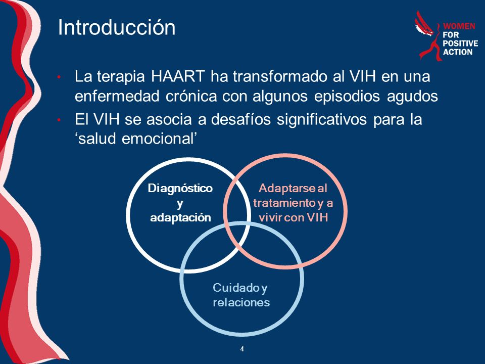 Diagnóstico y adaptación Adaptarse al tratamiento y a vivir con VIH