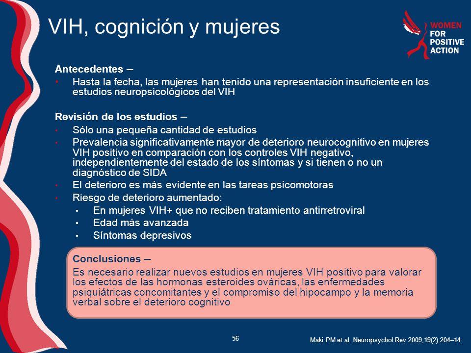 VIH, cognición y mujeres