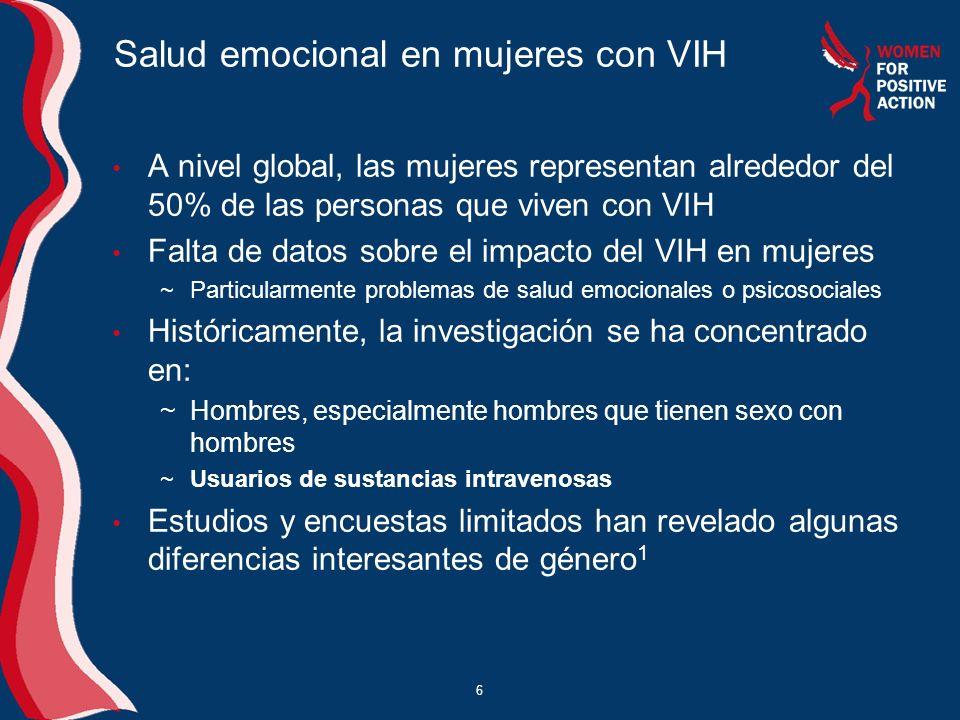 Salud emocional en mujeres con VIH