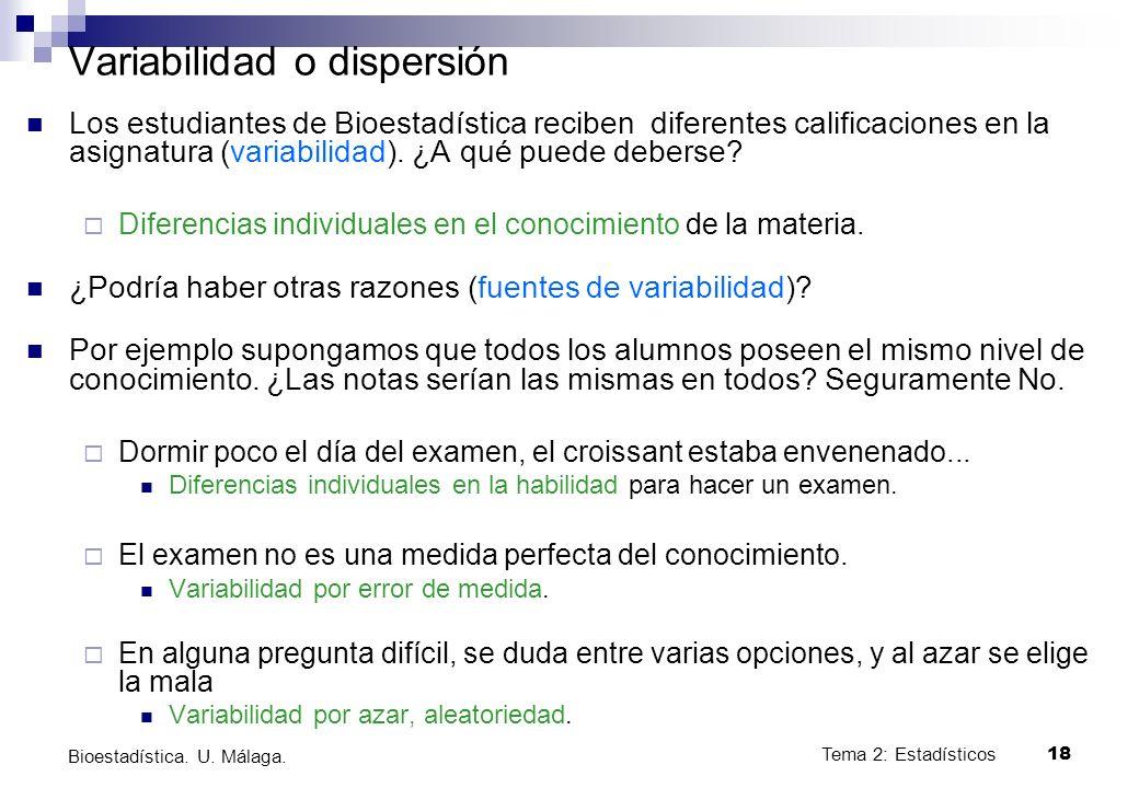 Variabilidad o dispersión