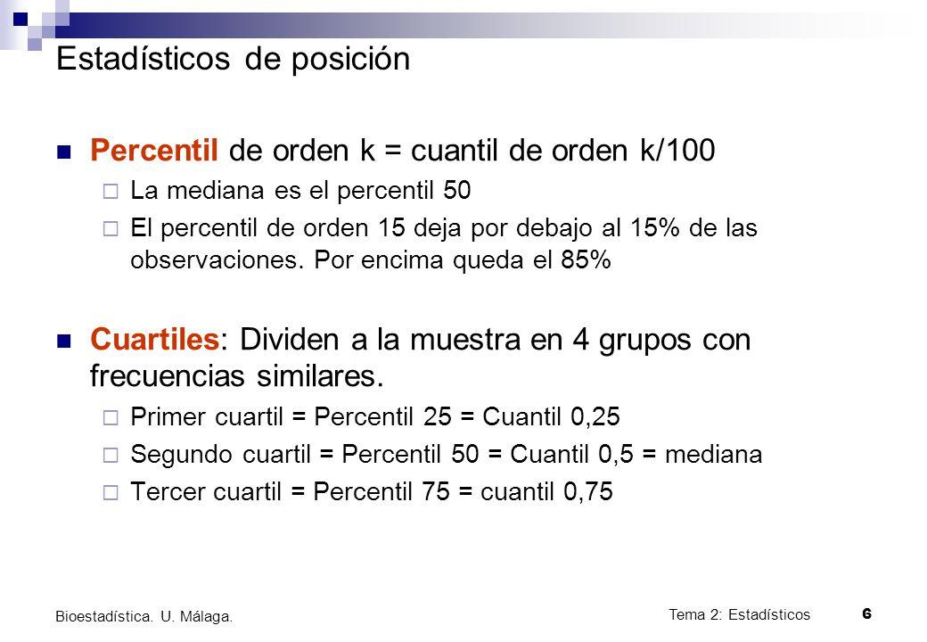 Estadísticos de posición