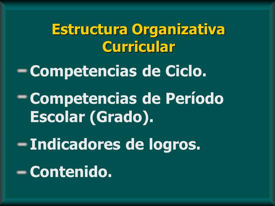 Estructura Organizativa Curricular