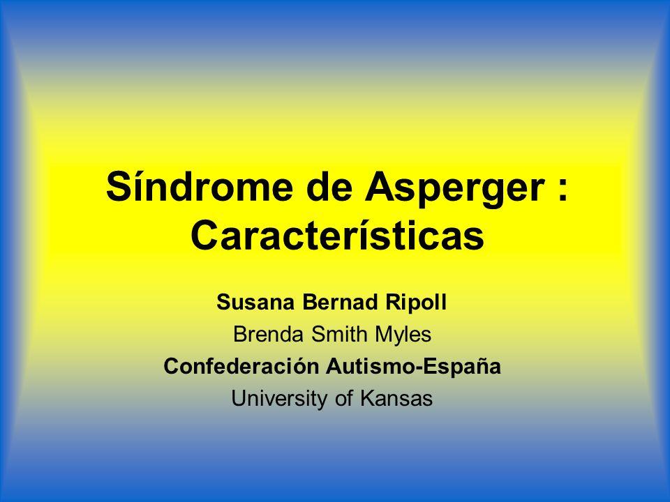 Síndrome de Asperger : Características