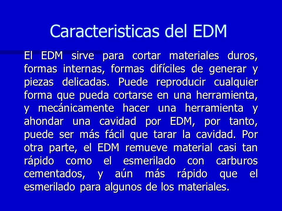 Caracteristicas del EDM