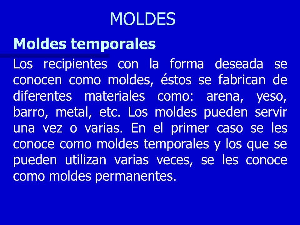 MOLDES Moldes temporales