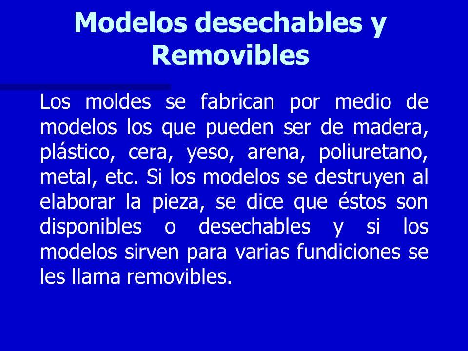 Modelos desechables y Removibles