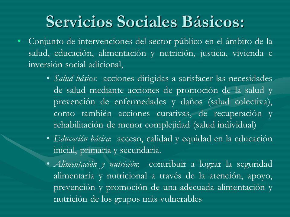 Servicios Sociales Básicos: