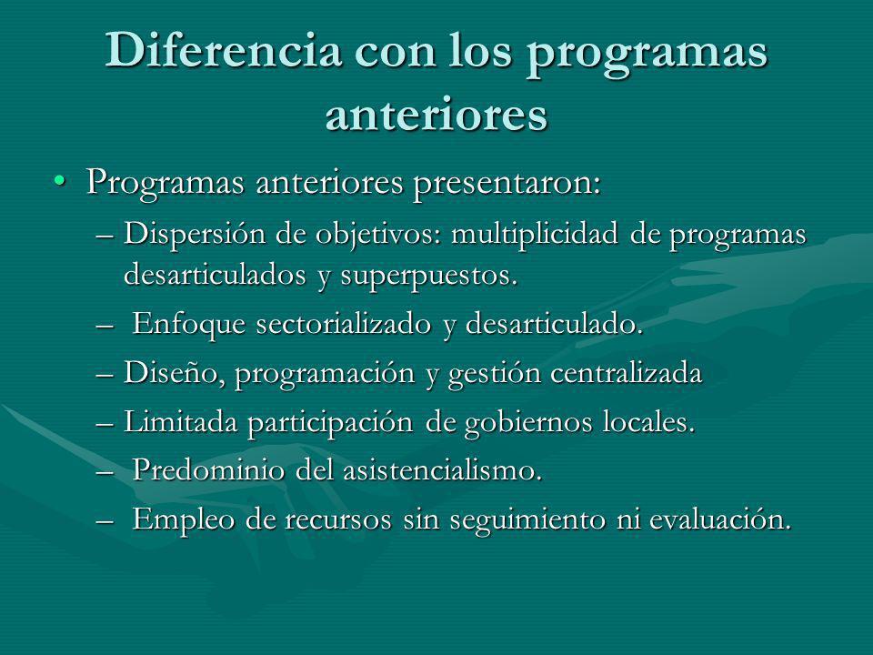 Diferencia con los programas anteriores