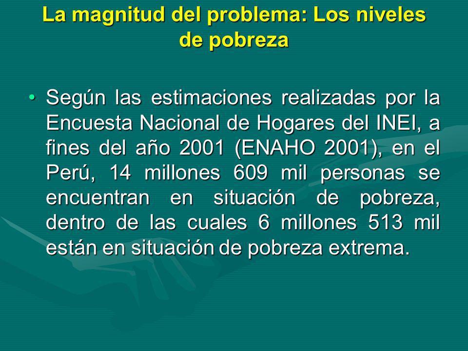 La magnitud del problema: Los niveles de pobreza