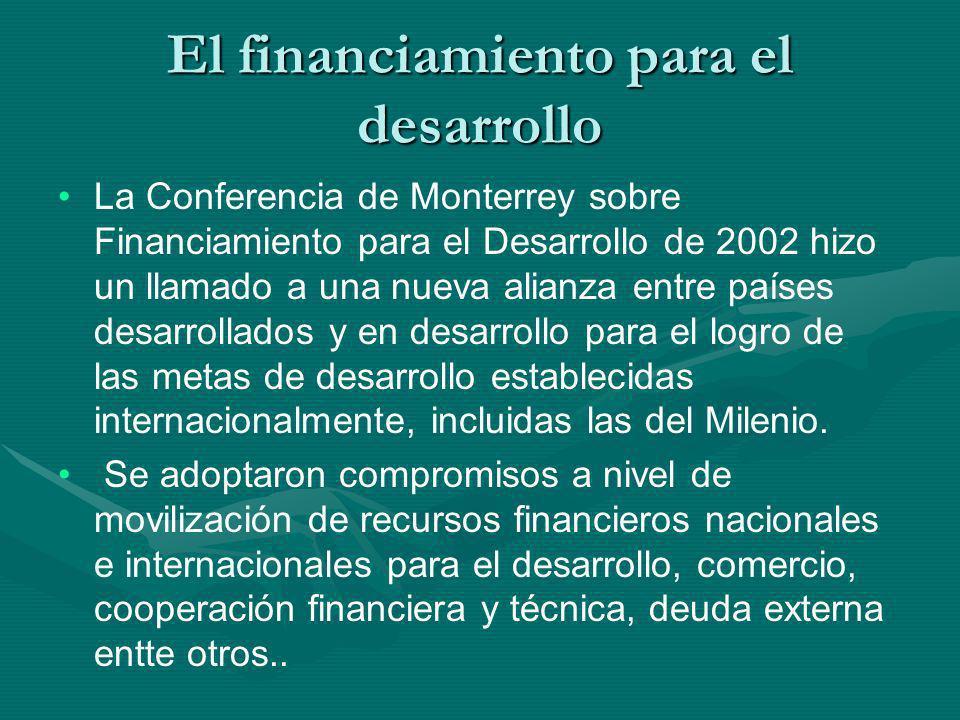 El financiamiento para el desarrollo