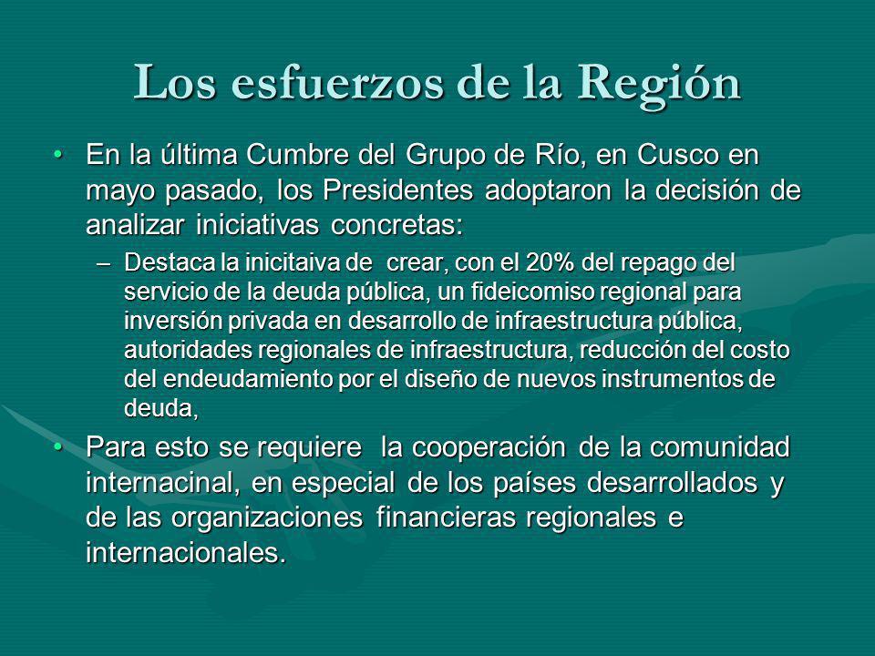 Los esfuerzos de la Región