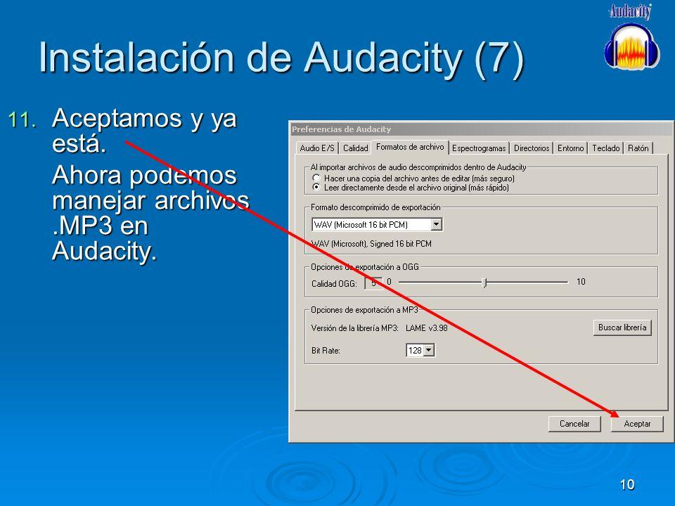 Instalación de Audacity (7)