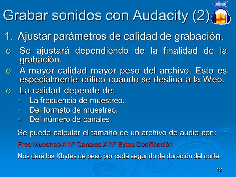 Grabar sonidos con Audacity (2)