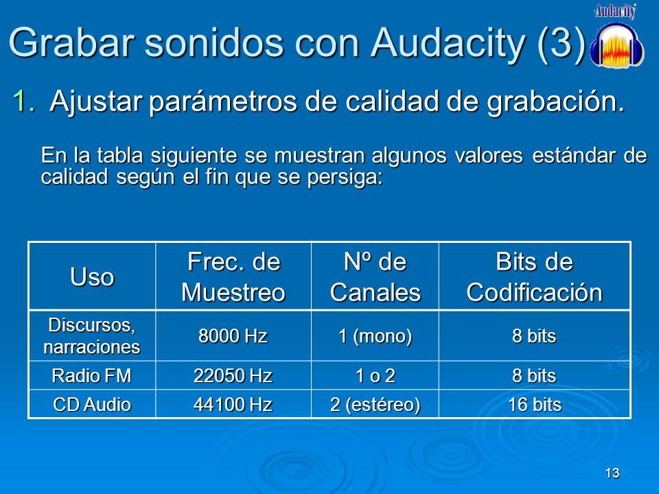 Grabar sonidos con Audacity (3)
