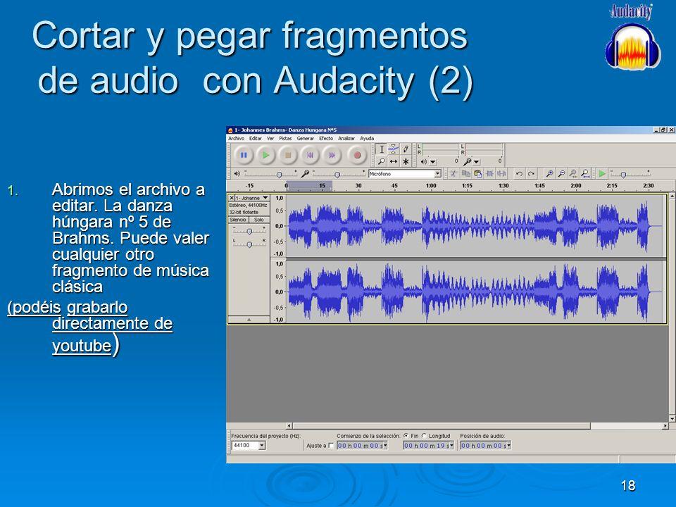 Cortar y pegar fragmentos de audio con Audacity (2)