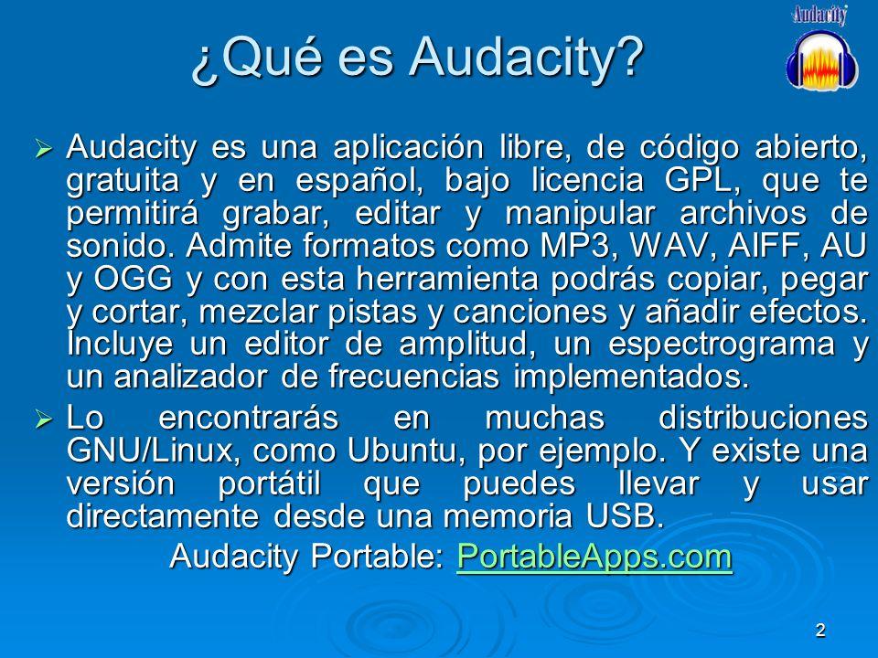 Audacity Portable: PortableApps.com