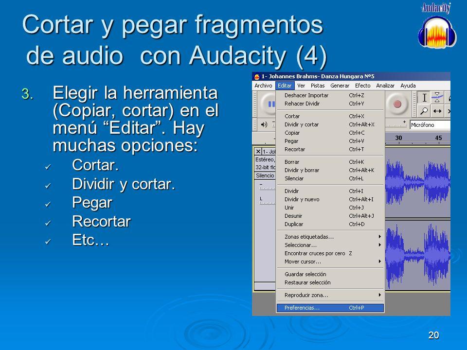Cortar y pegar fragmentos de audio con Audacity (4)