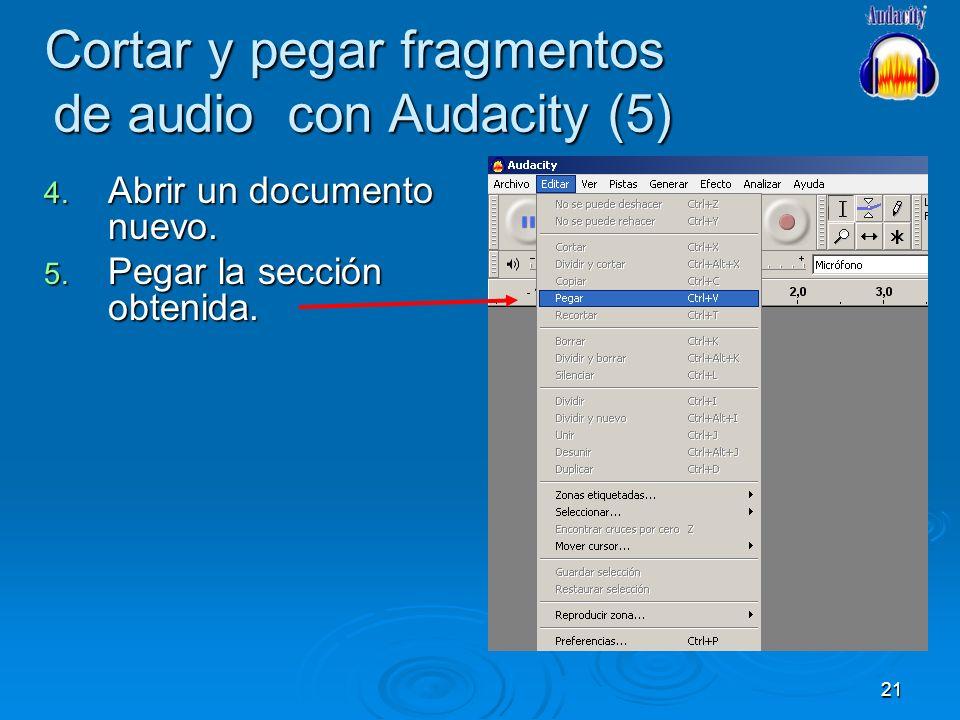 Cortar y pegar fragmentos de audio con Audacity (5)
