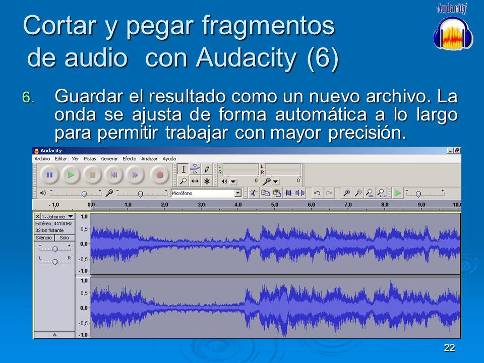 Cortar y pegar fragmentos de audio con Audacity (6)