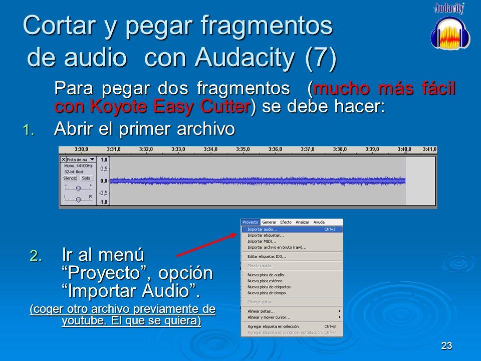 Cortar y pegar fragmentos de audio con Audacity (7)